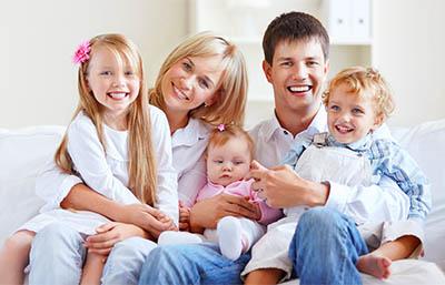 Familienfoto erstellt vom Fotostudio Twardy